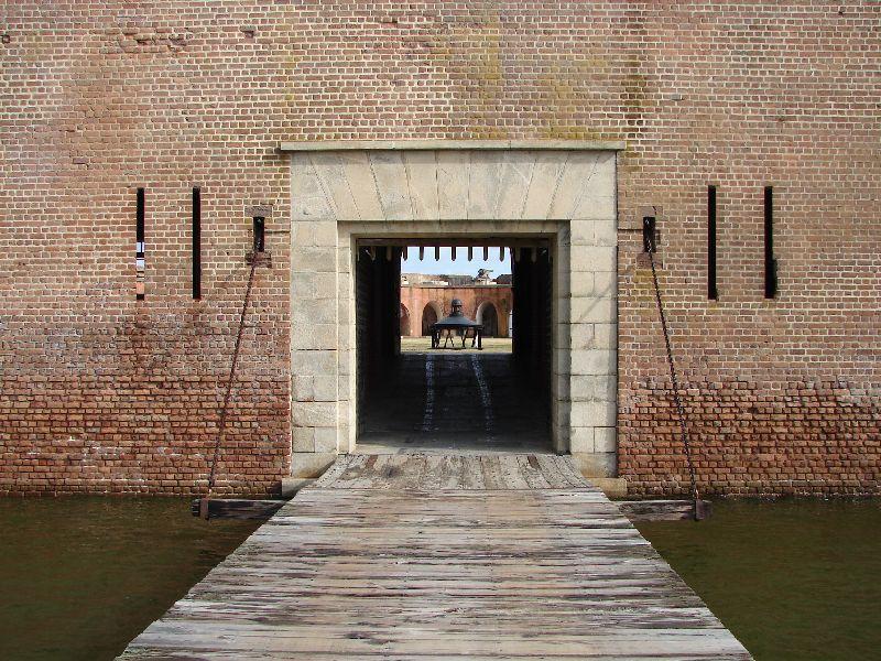 Day_111_-_Fort Pulaski, Draw Bridge at Main Gate