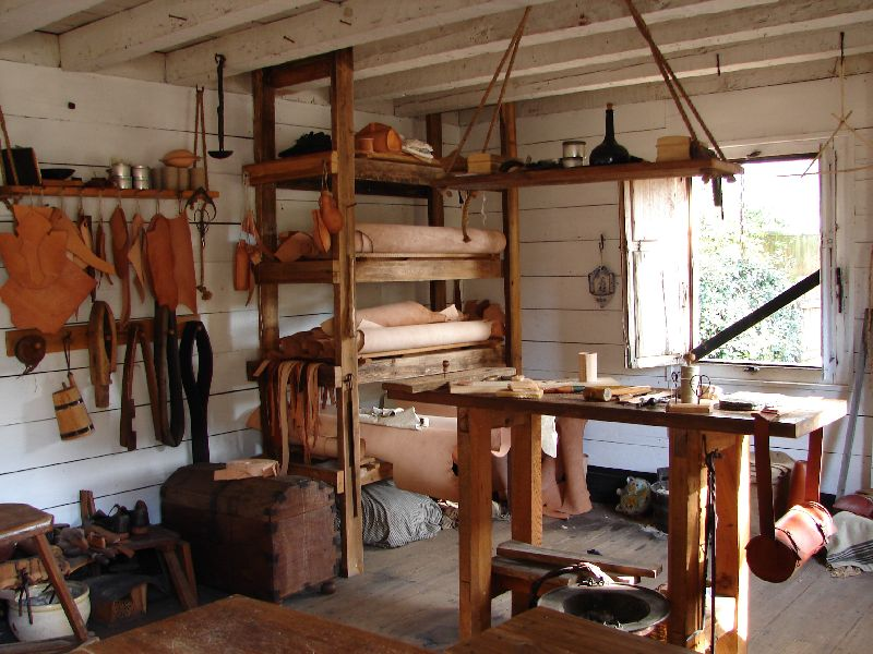 Day 136 - Old Sp Qtr, Leatherworking