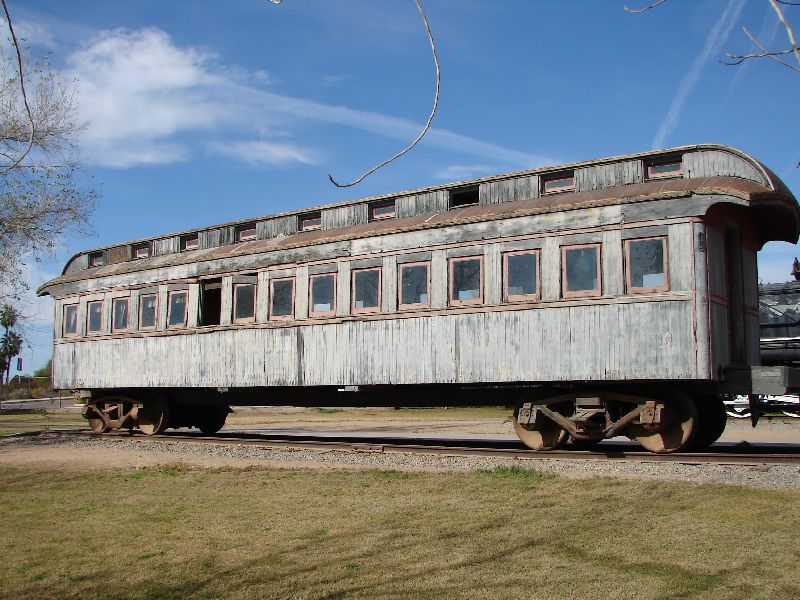 Day 171 - Yuma Qtr Depot, Wood Train Car