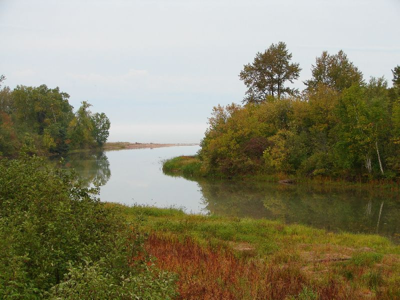 Day 17 - Iron River joining Lake Superior