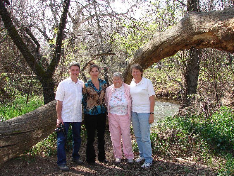 Day 191 - Art, Melody, Mom & JL at Bidwell Park
