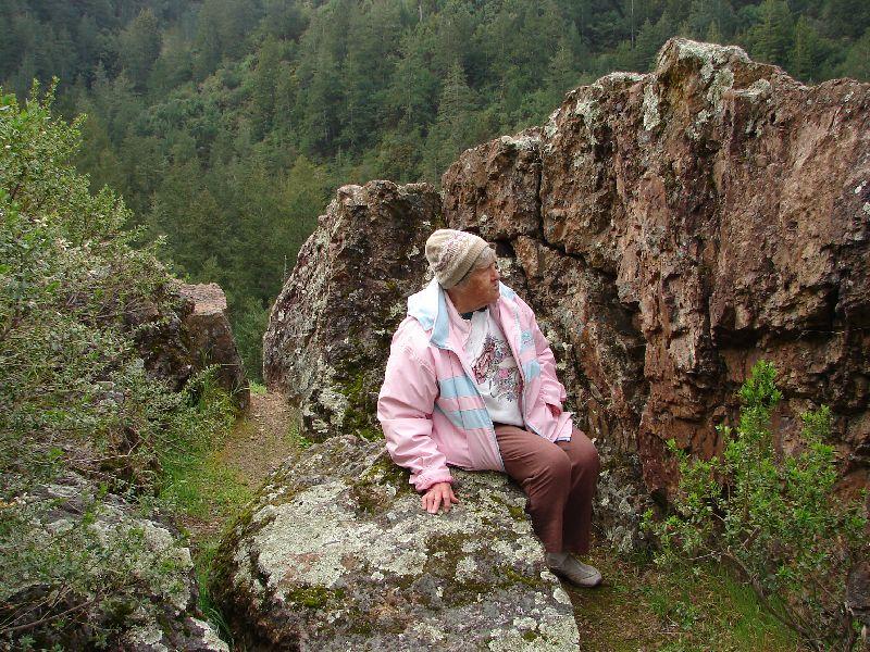 Day 195 - Sugarloaf SP, Mom & Rocks