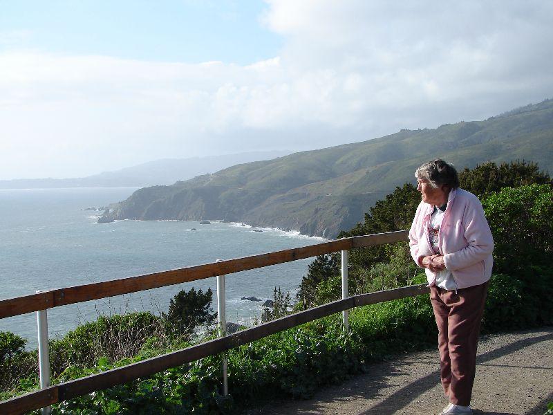 Day 195 - Northern CA Coast, Mom At Overlook