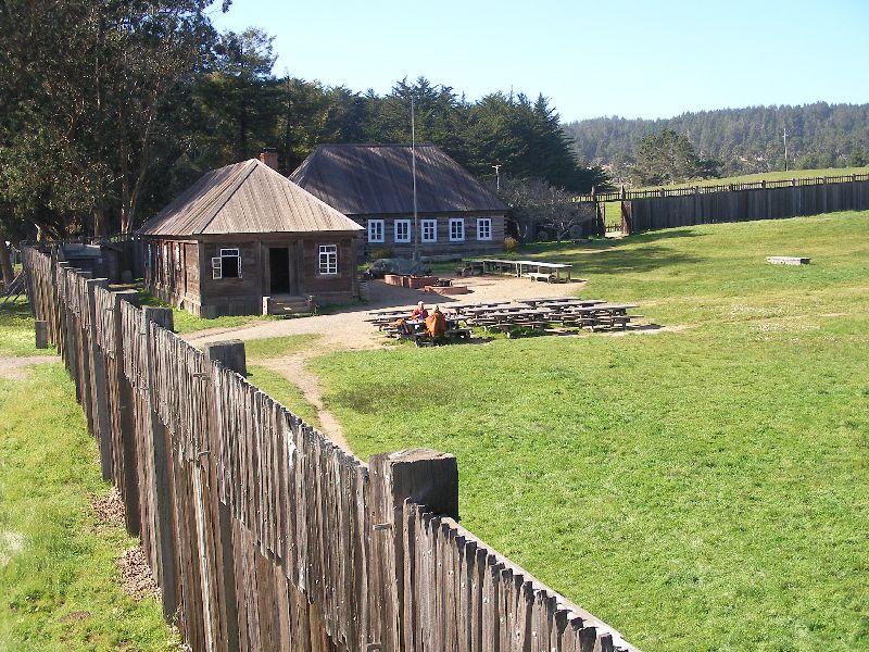Day 197 - Fort Ross, Bldgs from Blockhouse