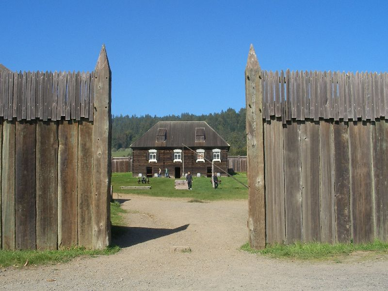 Day 197 - Fort Ross, Bldg thru Gate