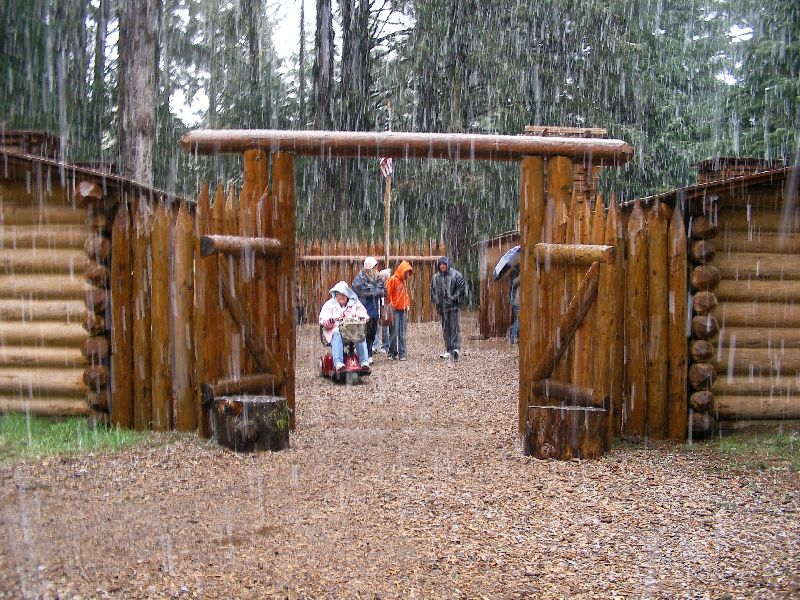 Day 207 - Fort Clatsop, Mom In Fort
