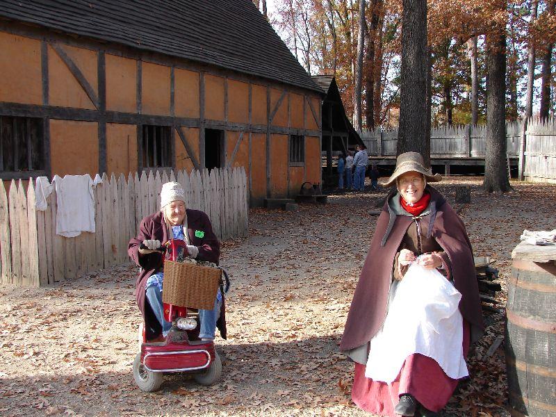 Day 91 - Jamestown Stlmt, Mom's Cart