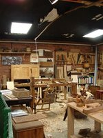 Day 56 - Plimoth Plantation - Craft Center, Lathe