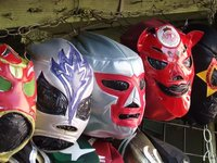 Wrestlers masks in market