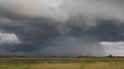 A storm approaches the Moremi