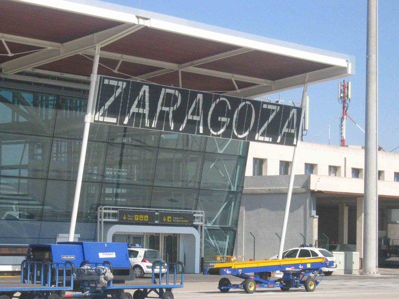Arrivée à l'aéroport de Saragosse