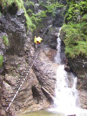 The wet metal ladders!
