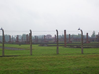 Vast purpose built camp of Birkenau