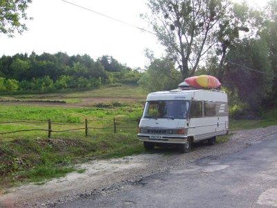 Wild camping by motorcross, Somogyamos Hungary