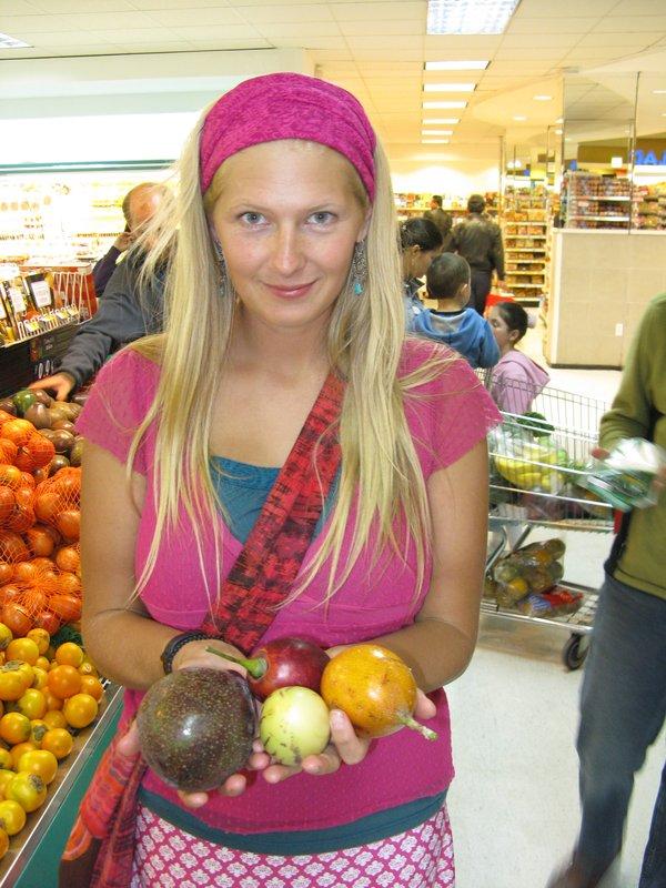 weird fruit in the market