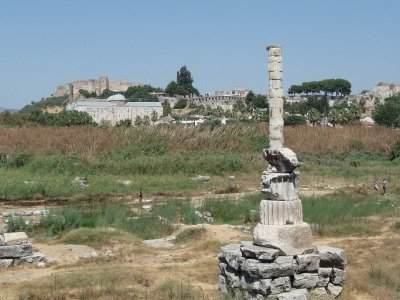 What is left of the temple of Artemis