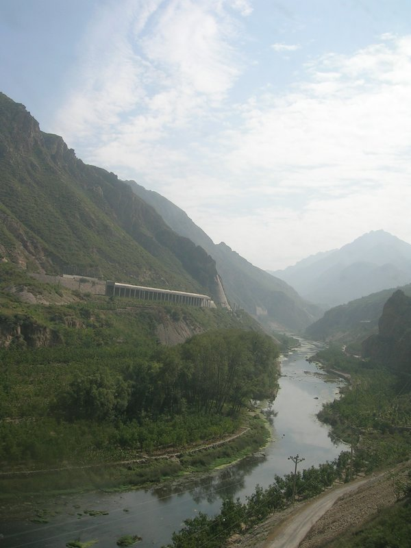 north china mountains by rail