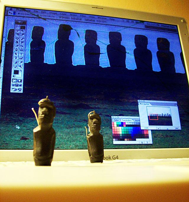 Rapa Nui laptop uprock