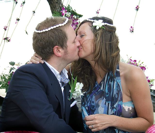 wedding blessing kiss