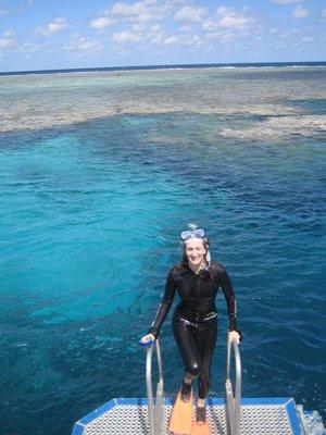 E-J snorkelling - Great Barrier Reef