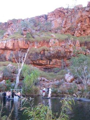 Waterhole red rocks
