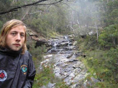 Sam loving yet another waterfall...