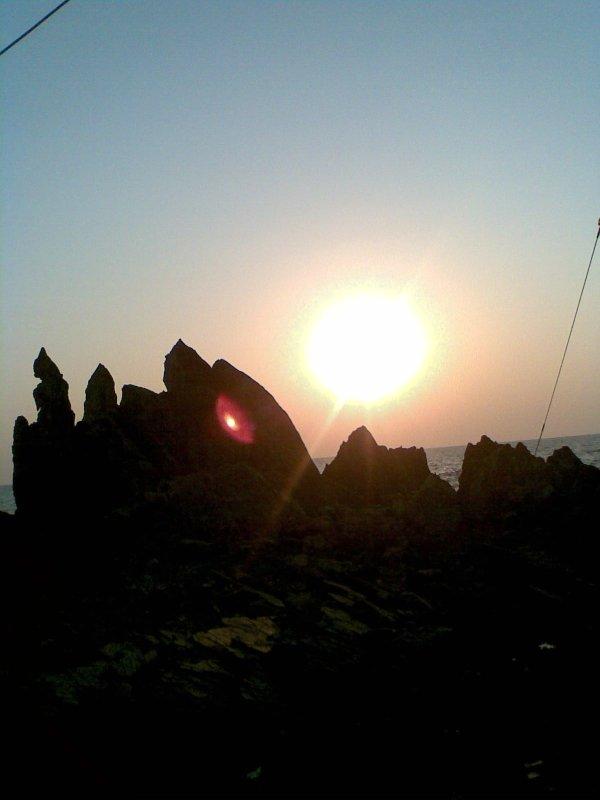 Sunset over Arabian sea in Goa