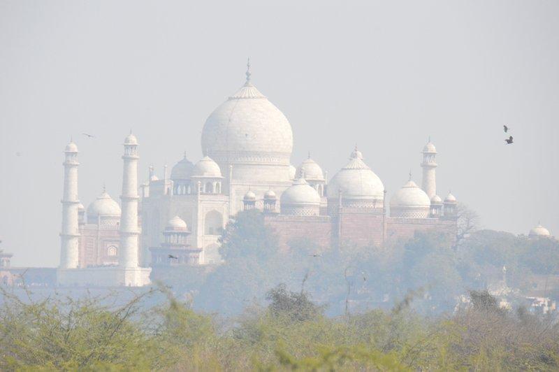 Taj from the road into Agra