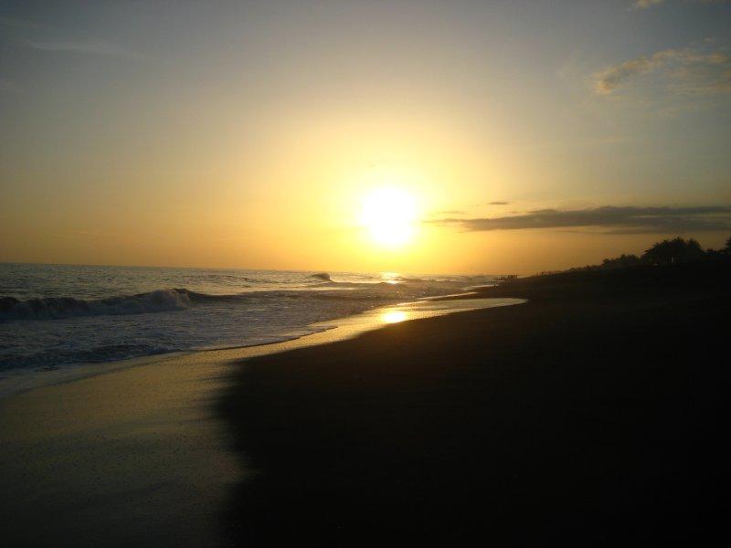 Monterrico Black Beach Sunset