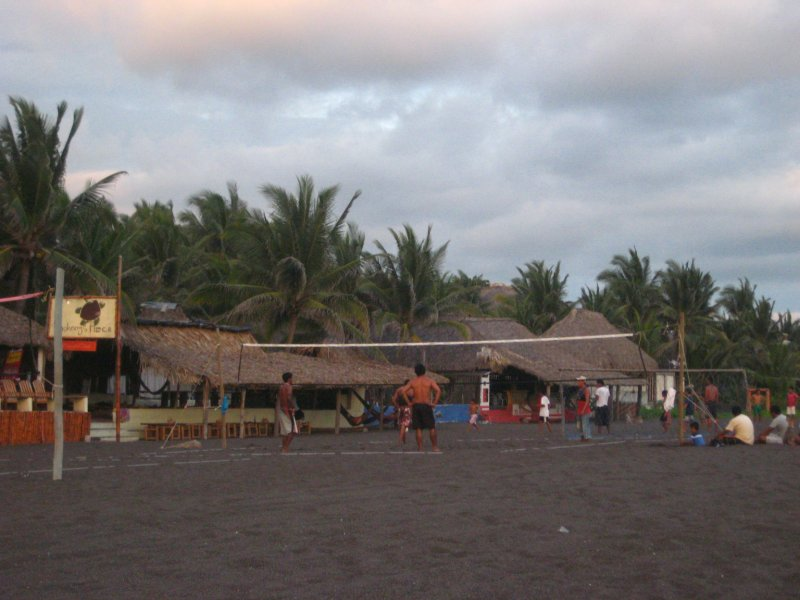 Black Beach Volleyball
