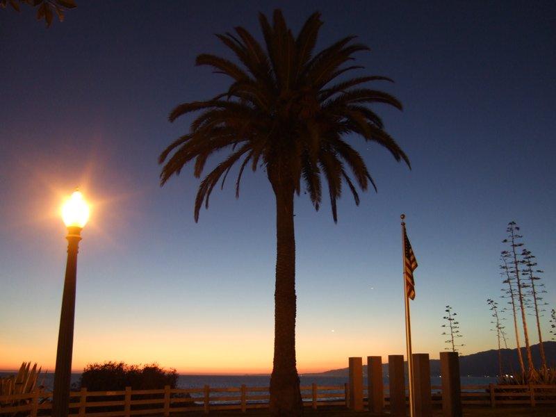as the sun goes down over Santa Monica Blvd