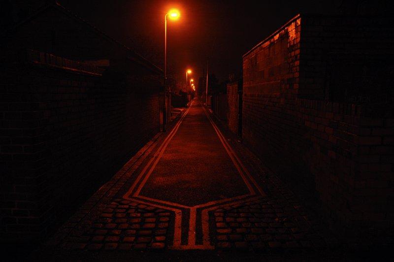 Alleyway at night