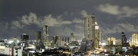 Bangkok at night - long exposure, panoramic view