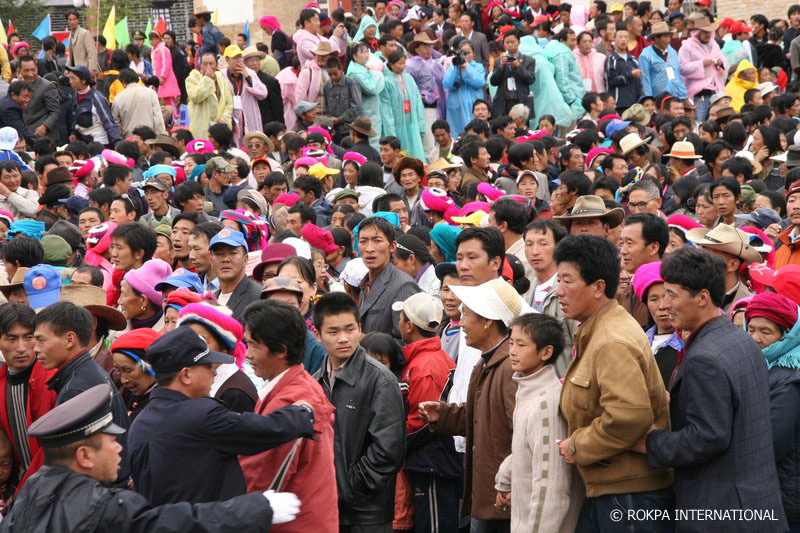 Audience during rainy Event
