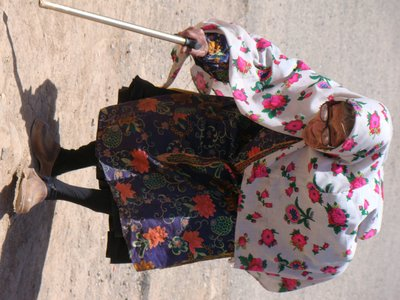 not so young lady from Abyaneh