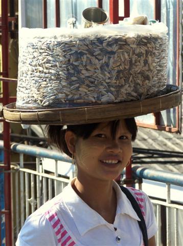 local Burmese girl