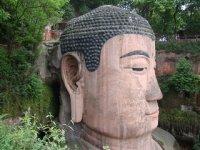Giant Buddha head Leshan