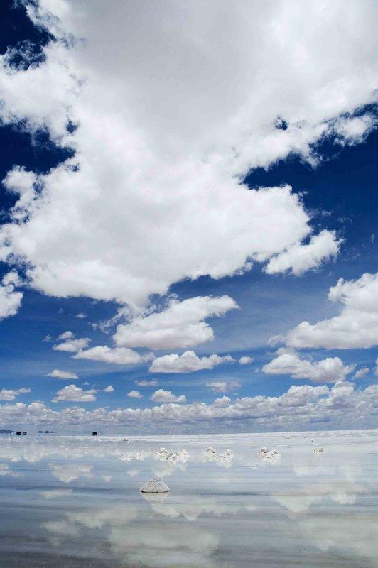 salt flat clouds