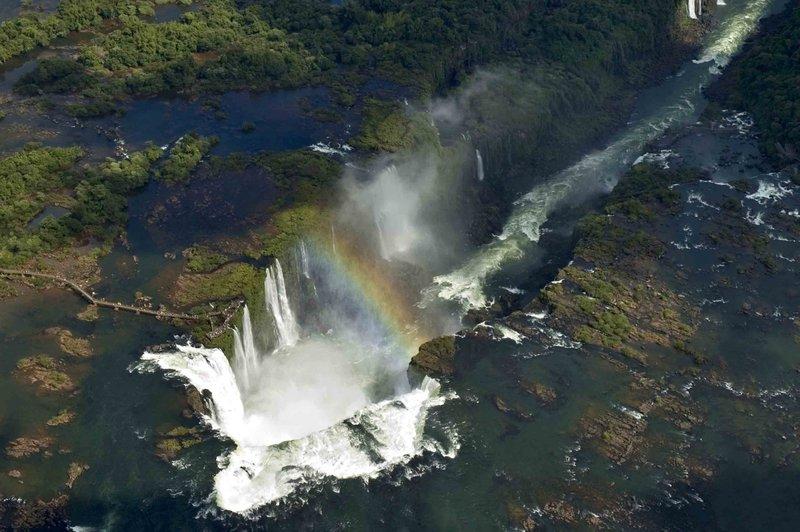 birds eye view of iguazu falls