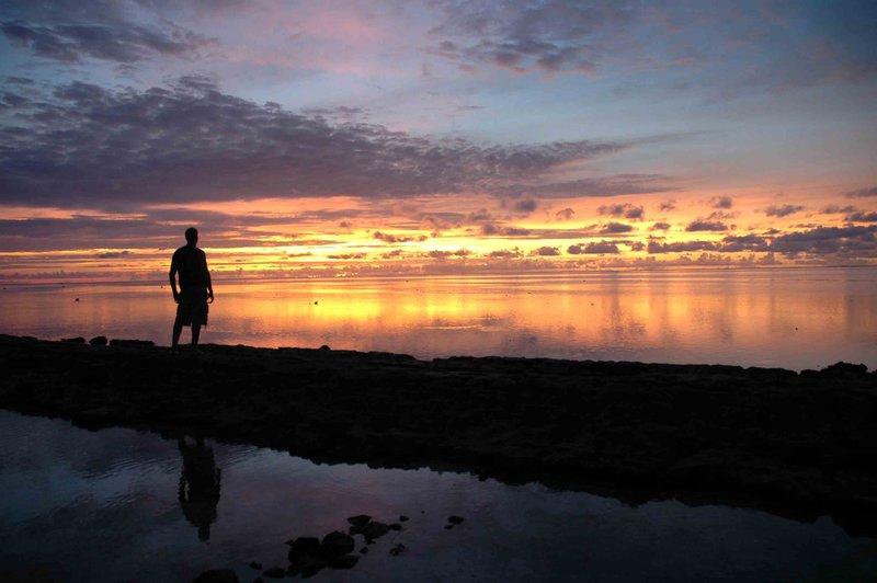 moorea tahiti sunset