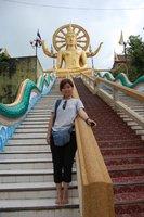 Me at Big Buddha temple in Samui