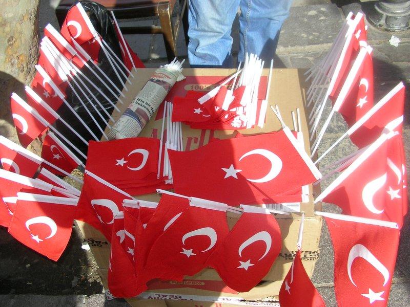 Flags in Turkey