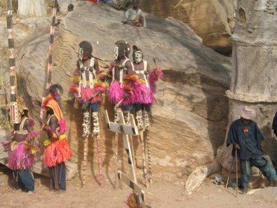 some Dogon mask dancers