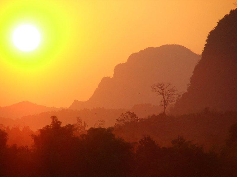 Laotian Sunset