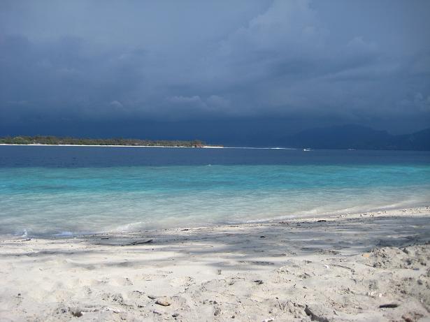 Strand kurz vor Regen
