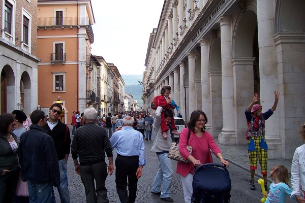 The main street, L'Aquila