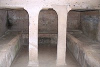 Inside a tomb, Cerveteri