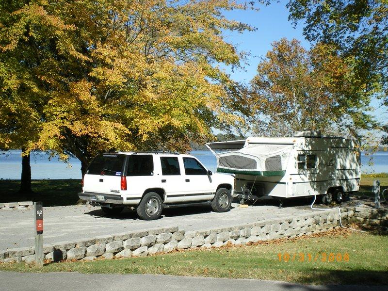 October Camping in Cedar Creek Campground