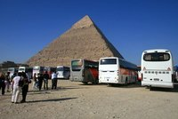Tourists at Giza