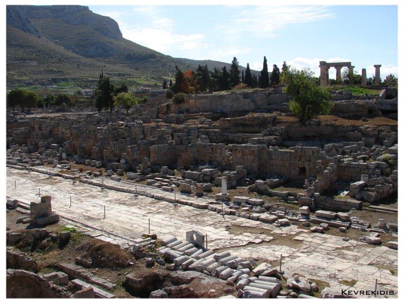 Ancient Corinth - Lechaion Road